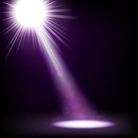 Spotlight shining floor