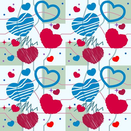 heart seamless pattern: Heart seamless pattern