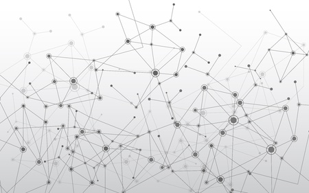 network connection: Geometric molecule background Illustration