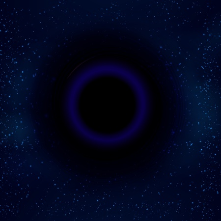 black hole: Black hole in space