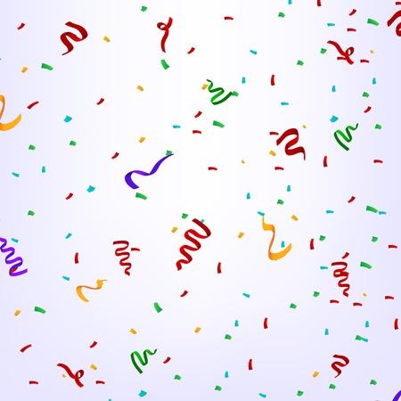 birthday party: Confetti in birthday party Illustration