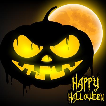 jack o   lantern: Happy Halloween with Jack o lantern pumpkin