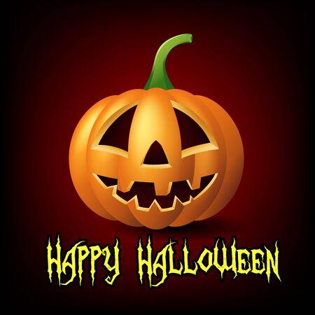 jack o: Happy Halloween with Jack o lantern pumpkin