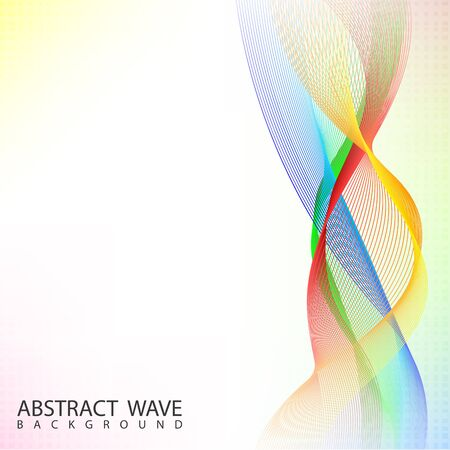 blend: Abstract Color blend wave background Illustration