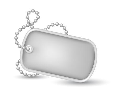 Militaire dog-tags illustratie Stock Illustratie