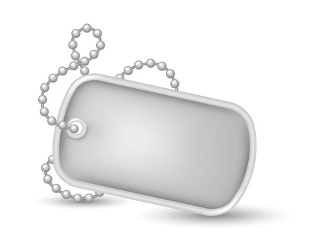 Military dog tags illustration Illustration