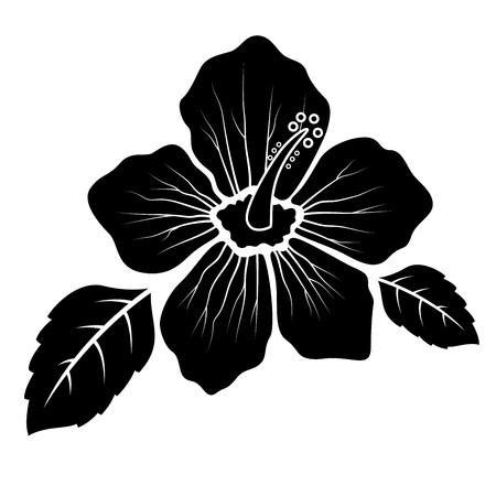 Hibiscus flower silhouette concept