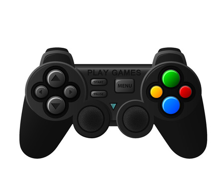 padding: Black joystick with diferent buttons