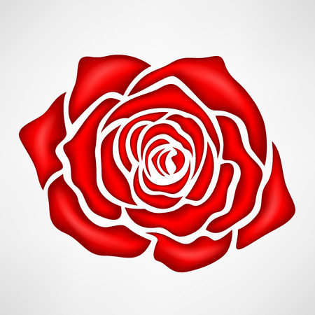 Red rose symbol illustration