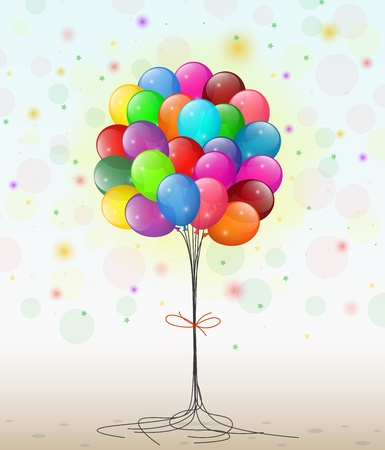 streamer: Transparent balloons with streamer