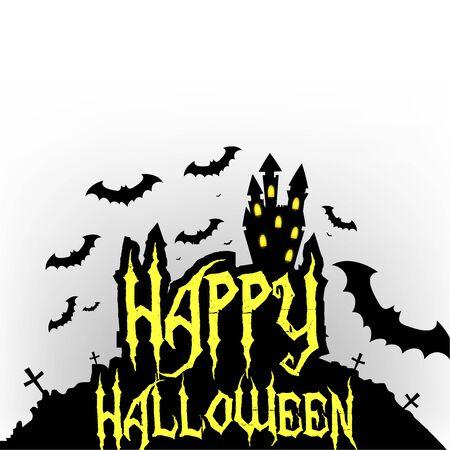 sillhouette: Happy Halloween Greeting card sillhouette