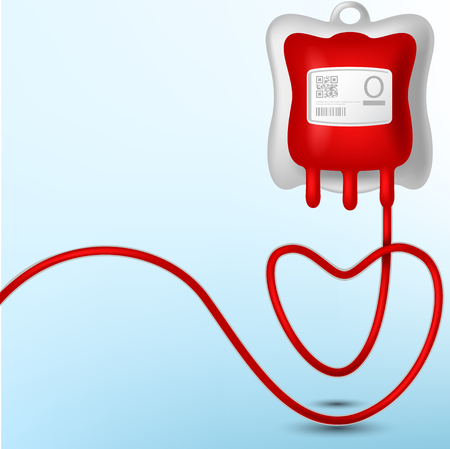 blood supply: Blood Bag illustration Illustration