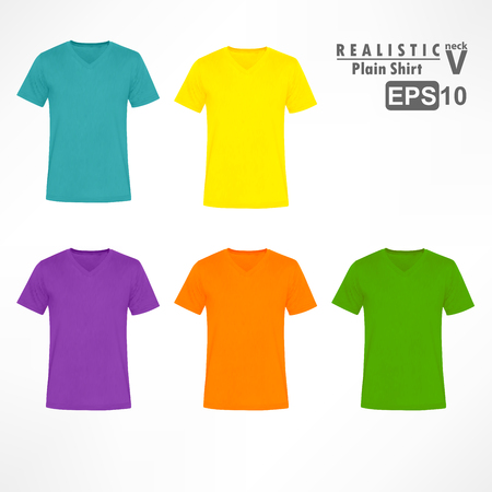 v neck: Colorful V Neck plain shirt sets