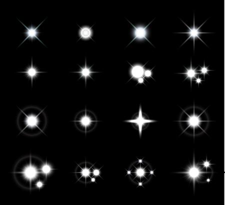 별: 스타 라이트 벡터 세트 일러스트