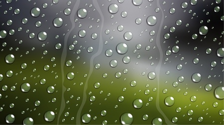 rain window: Rain Drop on windshield car window with blurred nature
