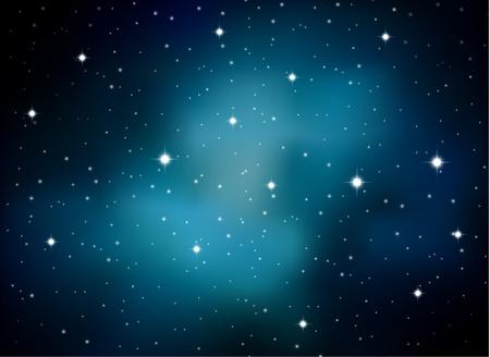 black star: Space milky way background Illustration