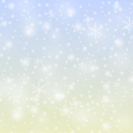 Sneeuwvlokken vallen achtergrond Stock Illustratie