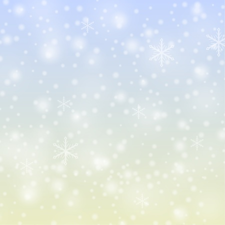 Snowflakes falling background Ilustrace