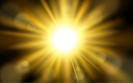 Sun burst with lens flare background