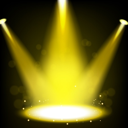 live concert: Gold Spotlight shining