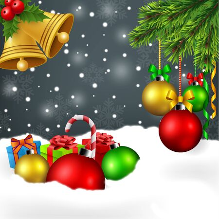 christmas ornaments: Christmas ornament background