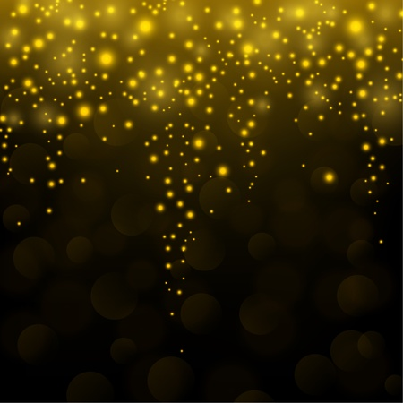 a glamour: Gold sparkle glitter falling background