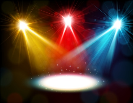ray trace: Colorful spotlight background Illustration