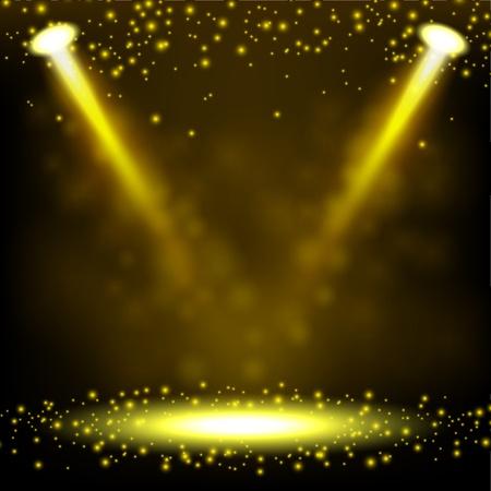 spotlight: Gold Spotlight shining