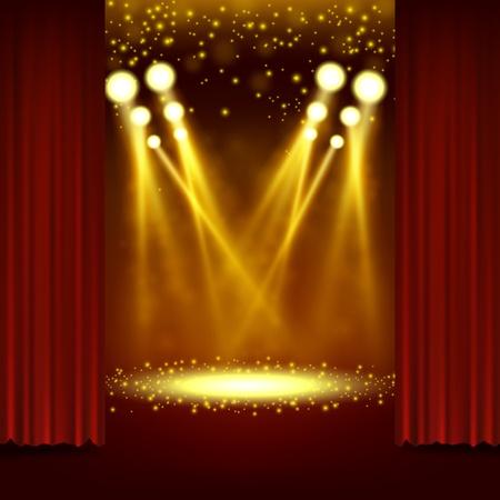 spotlight: Spotlight shining in show event