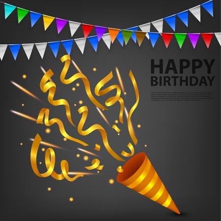 Exploding Gold Confetti Popper birthday party