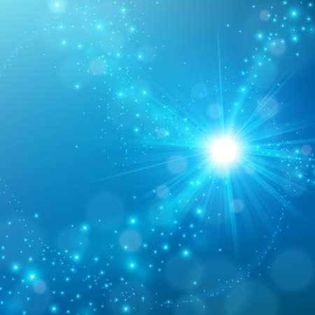 shine: Abstract elegant blue shine background