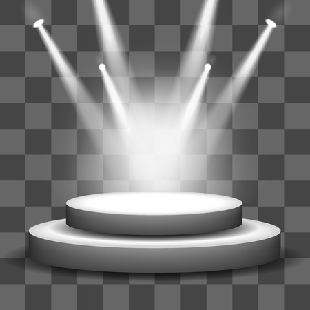 light rays: Spotlight shining on empty stage transparency background