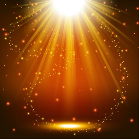 Elegante Lichter mit Funkenflug Hintergrund Standard-Bild - 50768741