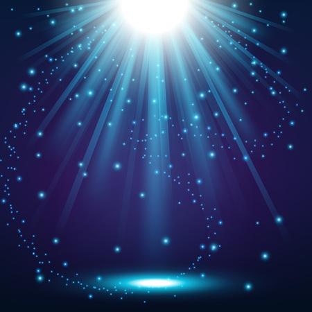 Elegant lights shining with flying sparks background Vettoriali