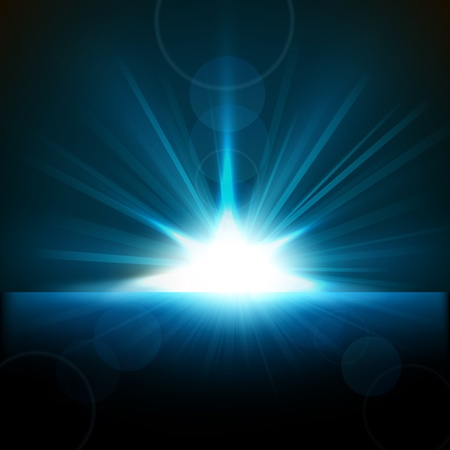 Blue Rays rosnące od horyzontu Ilustracje wektorowe