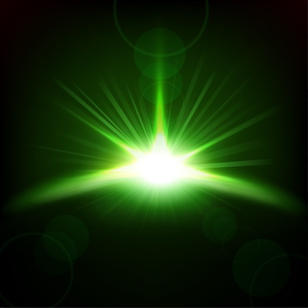 green background: Green Rays rising background