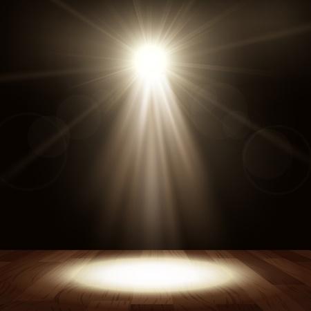 spot light: Spotlight in show performance with wood floor