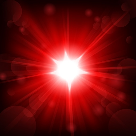 the shine: Red shine with lens flare background