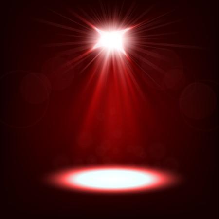 spotlight: Red spotlight shining