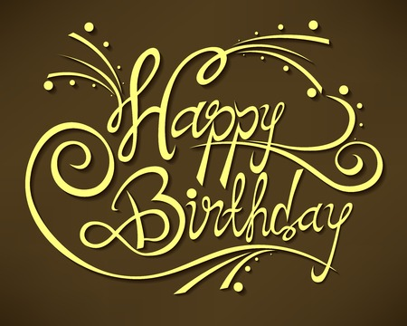 crafted: Happy Birthday hand drawn style. Original hand crafted design