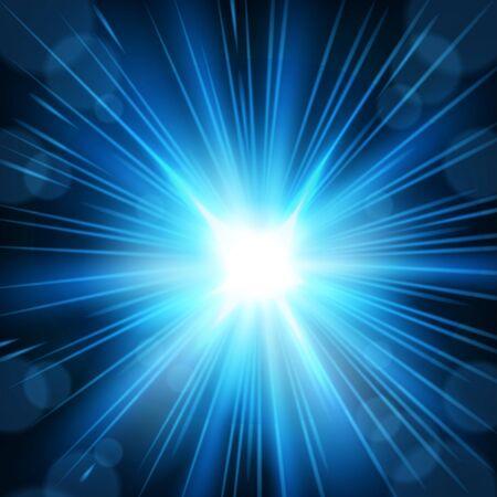 Blue light shining