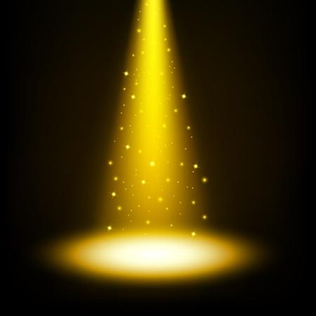 sprinkles: Gold spotlights shining with sprinkles