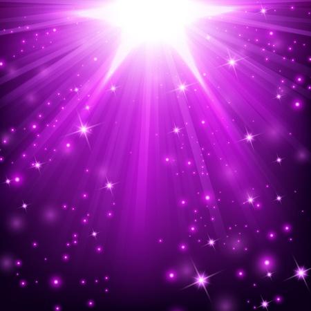 Violet lights shining with sprinkles Stock Illustratie