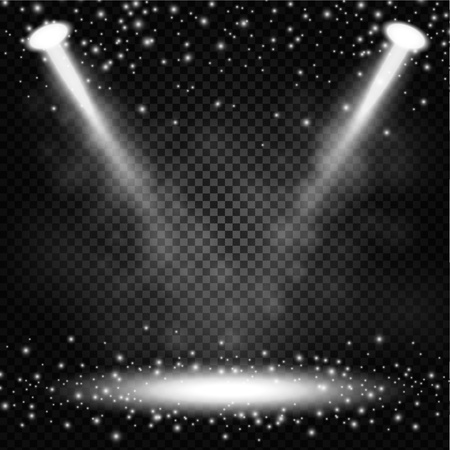 sprinkles: Spotlights shining with sprinkles on transparent background