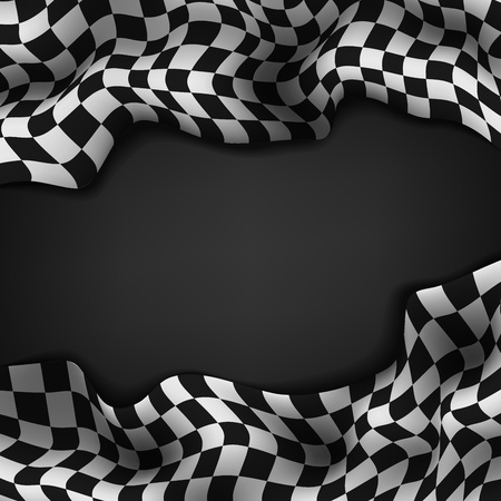 Checkered flag and space for your text inside background