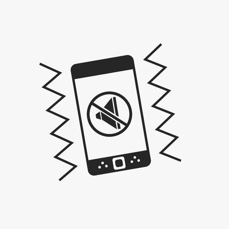 vibrate: Smartphone vibrate flat icon