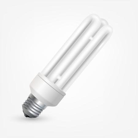 thrift: Fluorescent energy saving light bulb