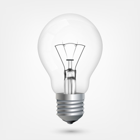 kilowatt: Incandescent energy saving light bulb Illustration