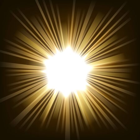 blinding: Illuminated gold light in darkness
