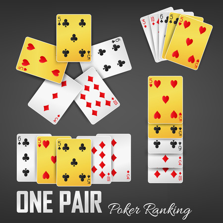 One Pair poker ranking casino sets